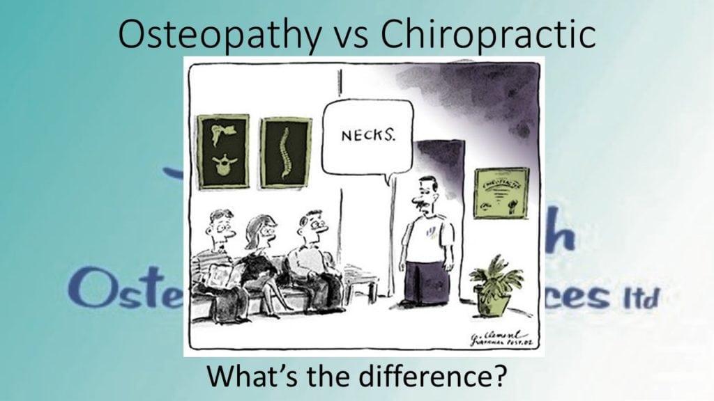 Osteopath v Chiropractor